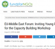 EU-Middle East Forum: Inviting Young Professionals for the Capacity Building Workshop